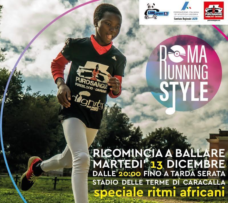 bambina aficana corre in una pista con la maglietta purosangue